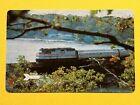 Amtrak Railroad Train Through Hilly Tree Coast Single Swap Playing Card