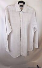 Lands End Vintage Men Casual Shirt Sz 16 1/2-33 White Blue Red Checks Pre-Owned