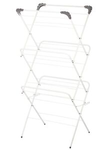 3 Tier Laundry Clothes Horse Drying Airer Rack Indoor Outdoor Patio Heavy Duty