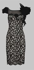 KaRen Millen stunning lace dress nude & black, size 10/12 a medium 12 Gorgeous!