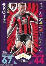2016 / 2017 EPL Match Attax Base Card (7) Steve COOK AFC Bournemouth