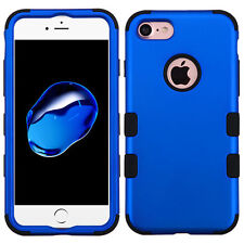 For Apple iPhone 7 Titanium Shockproof TUFF Hybrid Protector Case Cover Blue