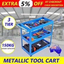 Heavy Duty Tool Cart Trolley 3 Tier Mechanic Handyman 150KG Warehouse Industrial