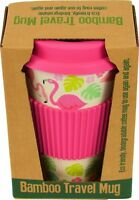 Rex London Coffee to go Kaffee Becher Bambus mit Deckel pink Flamingo