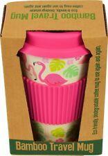 Rex London Coffee to go Kaffee Becher Bambus mit Deckel pink Flamingo
