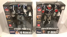 LOT OF 2 PRO-BOTS TOM BRADY & ELI MANNING ACTION FIGURES (TOY QUEST 2009) MIB