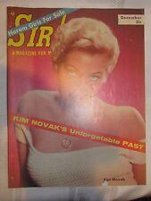 VINTAGE Sir! Magazine - December 1956 - Kim Novak - Harem Girls for Sale - GGA