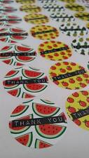 THANK YOU Fruit Stickers 175 Paper Rounds 37mm 5 a4 sheets