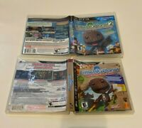 LittleBigPlanet 1 and 2 Sony PlayStation 3 PS3 Bundle Lot Complete Fast Shipping