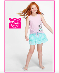 Girls Size 14//16 Top /& Skirt//Skort Set-Great for Spring /& Summer-NWT!