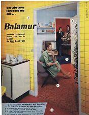 PUBLICITE ADVERTISING 114 1959 BALAMUR nouveau revêtement mural