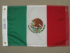 "Mexico Indoor Outdoor Dyed Nylon Boat Flag Grommets 12"" X 18"""