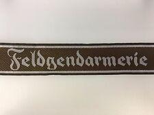 WWII German Army 'Feldgendarmerie' Field Police silk woven 'Bevo' cuff title or