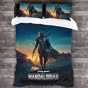 The Mandalorian Printed 3PCS Bedding Set Duvet Cover Pillowcases Quilt Bed Cover