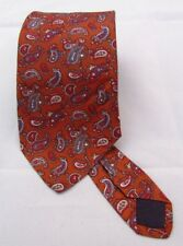 "OAKTON LTD Men's Neck Tie Brown Paisley Silk? 57"" x 3"" Vintage"