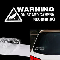 Warning On Board Camera Recording Sticker Car Window Truck Auto Fun Vinyl-Decal