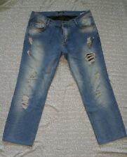 Antony Morato Distressed Mens Blue Jeans 54  38 Designer Wash Denim c9e2305e45c