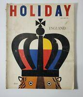 1958 Holiday Magazine - April - ENGLAND Cover .50¢