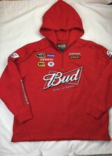 NASCAR Chase Kasey Kahne Jacket 2XL Red Hoodie Bud #9 Authentic Drivers Line