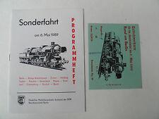 Heft Sonderfahrt 6. Mai. 1989 Rund um Berlin mit Teilnehmerkarte