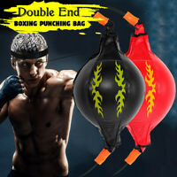 Leather Double End Dodge Speed Ball Boxing Floor To Ceiling Rope Punching Bag