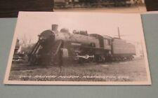1950's Ohio Railway Museum Norfolk and Western Railroad Train 578 RPPC Postcard
