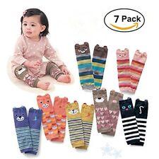 7 Pack Cute Animal Theme Knee Pads Socks Leggings Baby Girls Boys Toddler Knee -