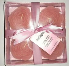 Pier 1 Pink Rose Honeysuckle Floating Candles Set of 4 Rose Candles w Gift Box