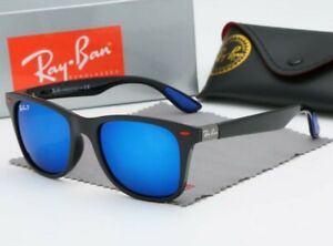 Ray-Ban Wayfarer Folding Classic RB4105 Occhiali da Sole - blue specchio