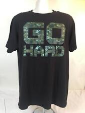 STATE OF MIND T-SHIRT, GO HARD, BLACK AND GREEN, SIZE L, CHEST 42, SHOULDER 40