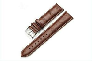 Fashion 16-24mm Leather Wrist Watch Band Bracelet Strap Women Men Buckle