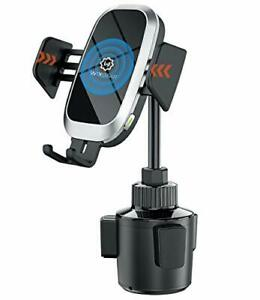 WixGear Auto-Clamping Fast Wireless Car Charger, Cup Phone Holder for Car