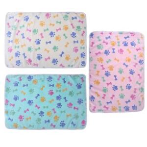 Winter Warm Soft Coral Velvet Pet Blanket Sleeping Mat Dog Bed Puppy Cushion Kit
