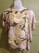 Size S Klass Loose Floaty Top Sheer With Under Vest Asymmetrical Summer Casual