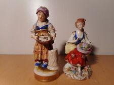 2 statue sculpture ancienne biscuit porcelaine allemande ceramique Allemagne
