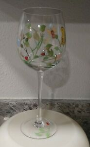 Lenox Butterfly Meadow Hand Painted Balloon Wine Glass