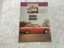 ESCORT MEXICO MK1 RS2000 POSTER ADVERT READY FRAME A4 SIZE I