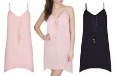 Lace Up Sleeveless Dresses A-Line