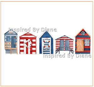 Furniture & Wall clear STICKER / Cut & Stick / Furniture Decal / Beach Huts 0026