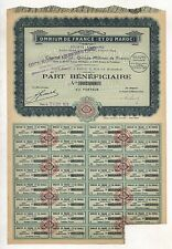 Marruecos: omnium de France et du Maroc s.a. – genußschein, París, 1929
