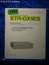 Sony Bedienungsanleitung STR GX5ES FM/AM Receiver (#2492)
