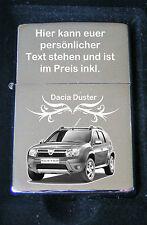 Dacia Duster Feuerzeug als Fotogravur Dacia Duster Geschenkidee inkl. Textgravur