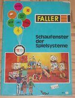 Faller  -- Modellbau  Katalog 1972/73