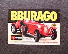 I011-Advertising Advertising - 1986-BBURAGO, alfa romeo 8c 2300 monza