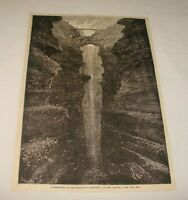 1880 magazine engraving ~ BRIDGE OF ICONONZO, Columbia