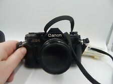 Canon AE-1 SLR Film Camera 35mm with Case and Lens Vintage