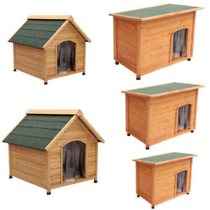 Openable Roof Dog Kennel House Rabbit Hutch Cage Insulated with Removable Floor