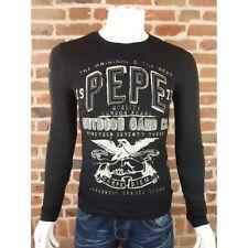 T shirt Pepe jeans Harrison noir Homme manches longues