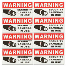 8pcs CCTV Video Surveillance SECURITY CAMERA IN USE Warning Safety Sticker  **