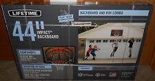 "44"" Basketball Impact Backboard Combo System Outdoor Wall Mount Hoop Rim Sports"